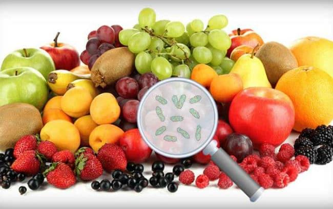 Fructe si legume cu pesticide
