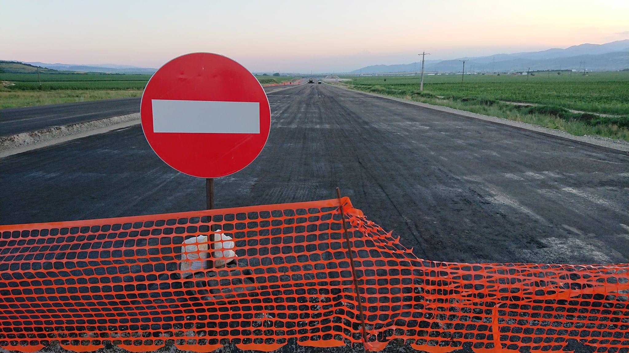 autostrada in lucru