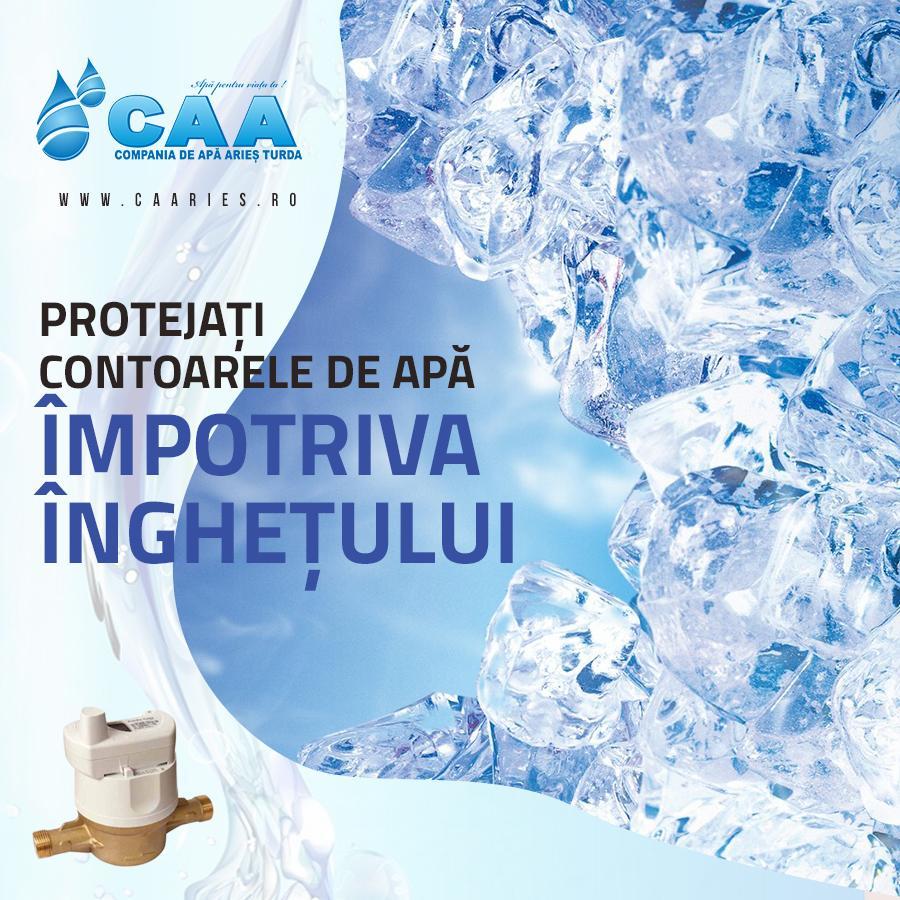 Protejati contoarele impotriva inghetului CAA