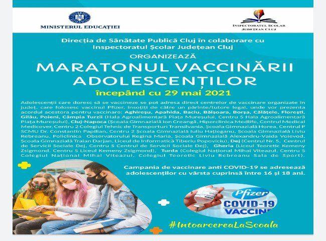 Vizual Maratonul vaccinării Cluj 1